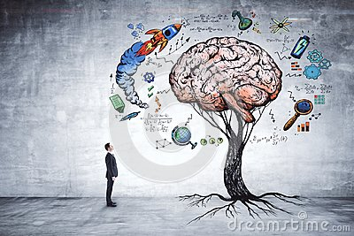 stock image of education, growth, brainstorm and startup concept