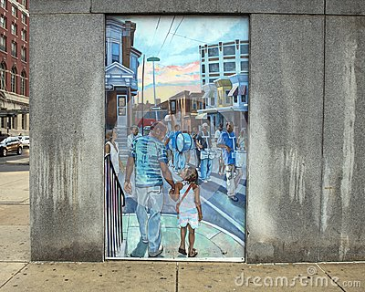 Unifying the Cultures of Neighborhood in Philadelphia, mural by Joseph and Gabriele Tiberino