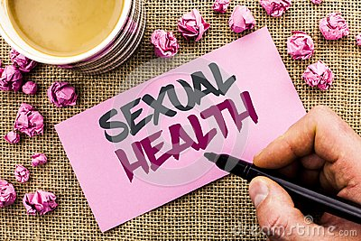 Conceptual hand writing showing Sexual Health. Business photo text STD prevention Use Protection Healthy Habits Sex Care written b