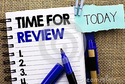 Word writing text Time For Review. Business concept for Evaluation Feedback Moment Performance Rate Assess written on Notebook Boo