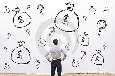 Credit, investment or fundraising financial concept, money