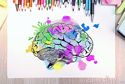 stock image of brainstorm and art concept