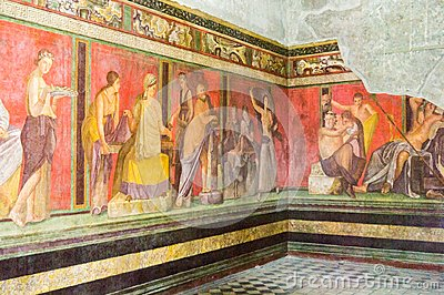 Frescos in the Villa of the Mysteries, Pompeii