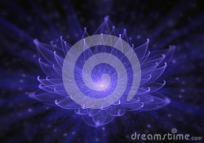 Water Lily, Radiant Blue Lotus with Rays of Light