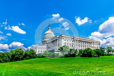 United States Capitol Building in Washington DC - Famous US Landmark and seat of the american federal government