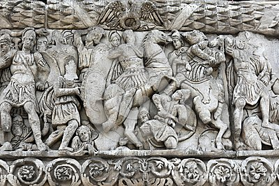 Detail of triumphal arch of Galerius - Thessaloniki