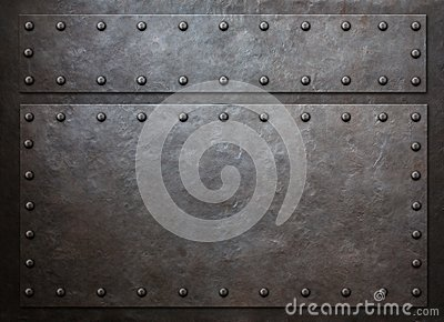Old metal steam punk background 3d illustration