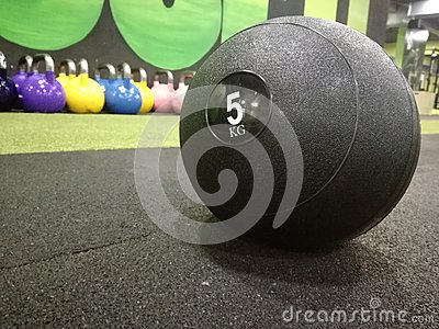 Medicine ball in the gym