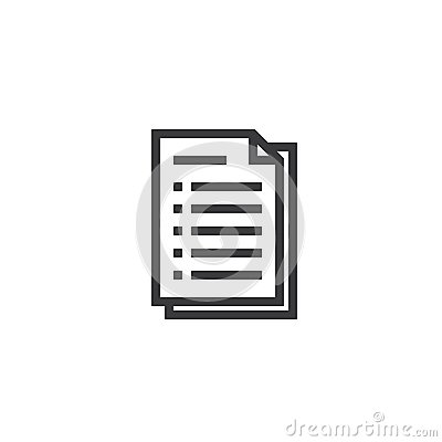 stock image of document paper outline icon. isolated note paper icon in thin line style for graphic and web design. simple flat symbol pixel perf