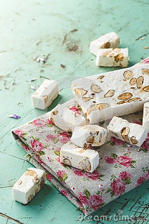 French Nougat with Almonds