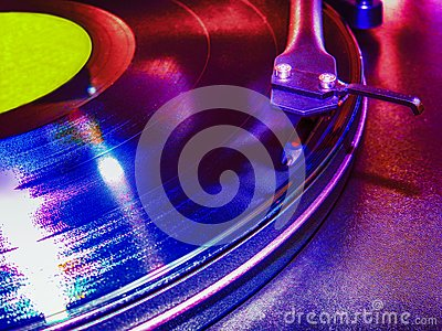 Turntable in the club