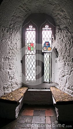 Castle Window with stain glass