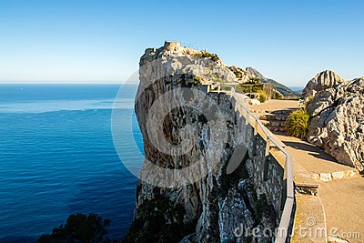 Mirador Es Colomer cliff on a sunny day, Majorca, Spain