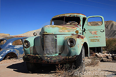 Abandoned antic old truck