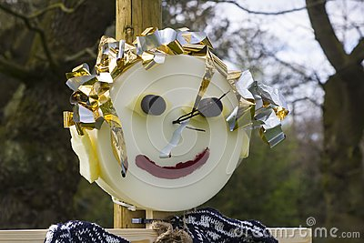 Straw filled Scarecrow type caricature figures for children`s entertainment at the 2018 annual spring festival at Barnett`s Demesn