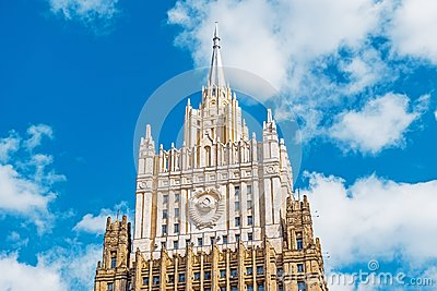 Ministry of Foreign Affairs of Russia style of Stalinist archite