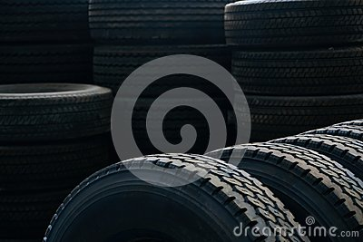 Car tires texrture background, close-up