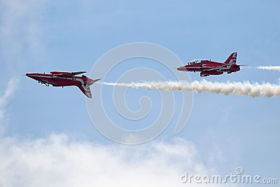 Red Arrows mirror manoeuvre