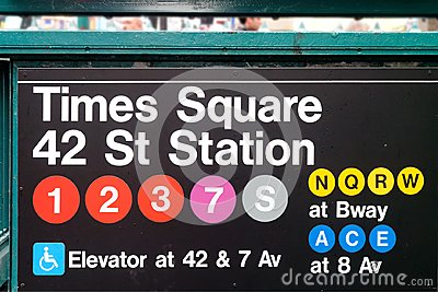 Times Square Subways or tubes Sign New York City USA