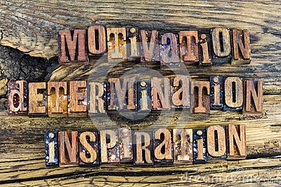 Motivation determination inspiration letterpress