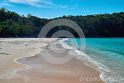 Landscape of natural sea beach and tropical jungle, Racha Island Andaman sea. Travel in Thailand, Beautiful destination place Asia