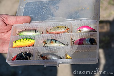 Fishing accessories similar to small fish, hooks