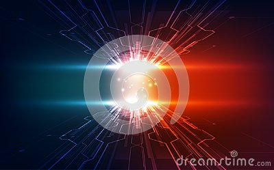 Vector Abstract futuristic high speed, Illustration high digital technology blue color