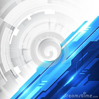 Vector Abstract futuristic high digital technology blue color background, illustration web