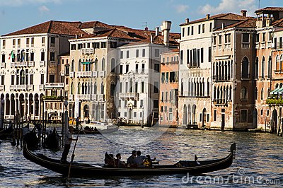 View of the Grand Canal in Venise