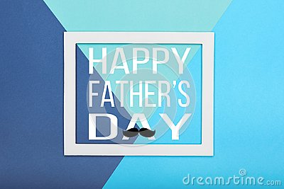 Happy Father`s day Background. Abstract multicoloured paper texture minimalism background.