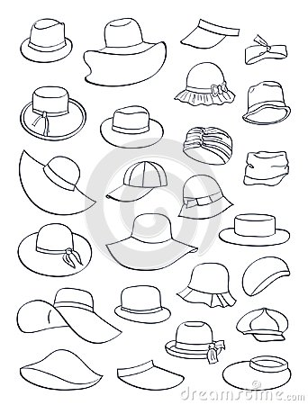 Contours of summer hats