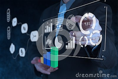 Data Management System DMS with Business Analytics concept.