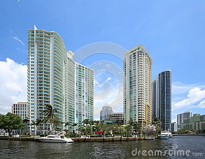 Waterfront living in downtown Fort Lauderdale, Florida.