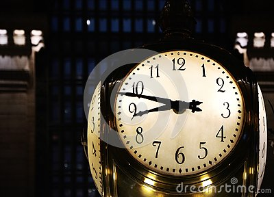 Big Clock in New York`s Grand Central Station