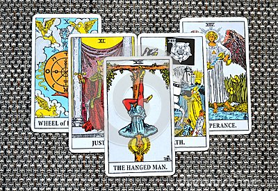 The Hanged Man Tarot Card Reflection Surrender Stand Outside the picture