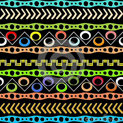 Native aztec style tribal vector seamless pattern. Geometric afr