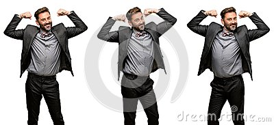 stock image of middle age man wearing a suit