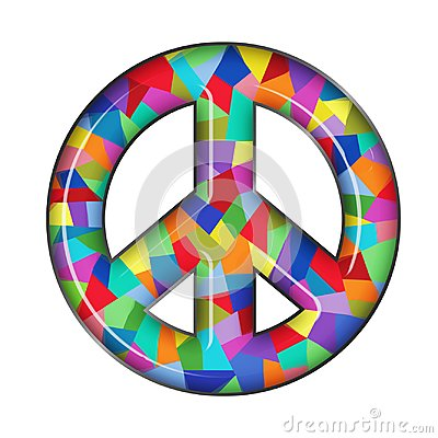 Peace Sign Glass