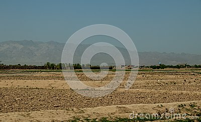 Street and village life in Gardez in Afghanistan in the summer