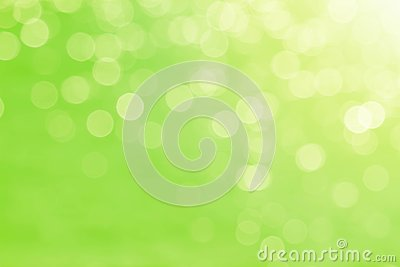 Soft blurred sweet green bokeh nature abstract background