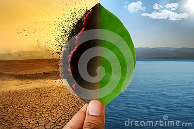Climate change and Global warming environmental day concept