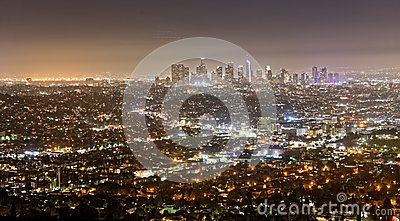Los Angeles seen from Griffith Observatory at night