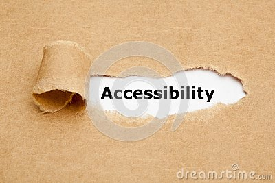 Accessibility Ripped Brown Paper Concept