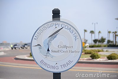 Mississippi Coastal Birding Trail Sign