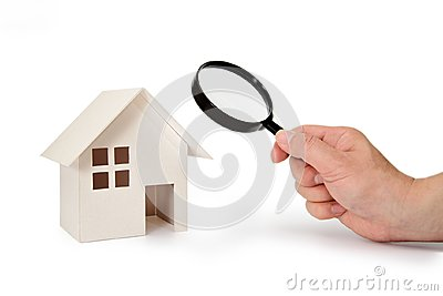 Looking at a model house