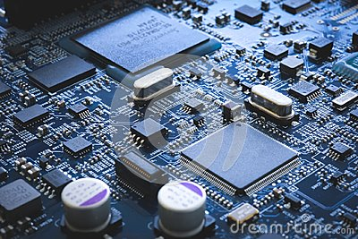 Electronic circuit board semiconductor and motherboard hardware