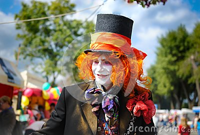 Mad hatter from the tale of Lewis Carroll Alice in Wonderland