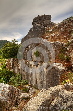 Remainders of a wall of a Hellenistic city