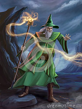 Mage casting a spell