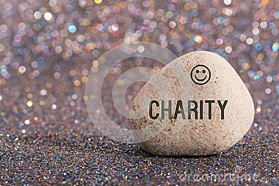 Charity on stone